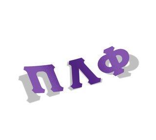Pi Lambda Phi Big Greek Letter Window Sticker Decal