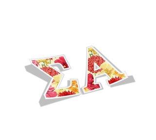 Sigma Alpha Floral Greek Letter Sticker