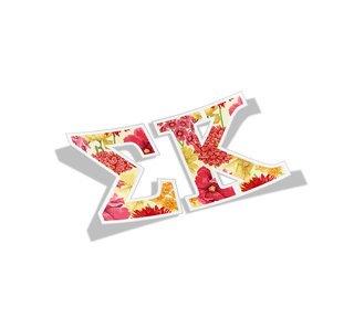 Sigma Kappa Floral Greek Letter Sticker