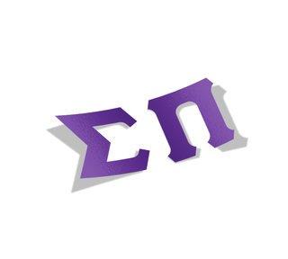 Sigma Pi Big Greek Letter Window Sticker Decal