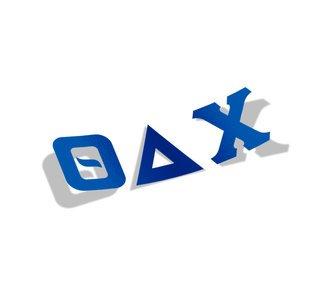 Theta Delta Chi Big Greek Letter Window Sticker Decal