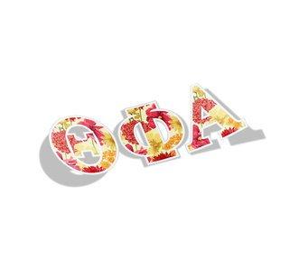 Theta Phi Alpha Floral Greek Letter Sticker