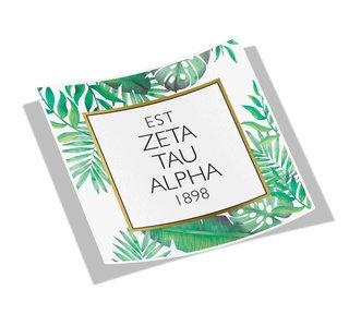 Zeta Tau Alpha Tropical Sticker Decal