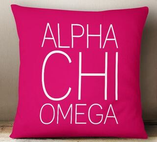 Alpha Chi Omega Simple Pillow