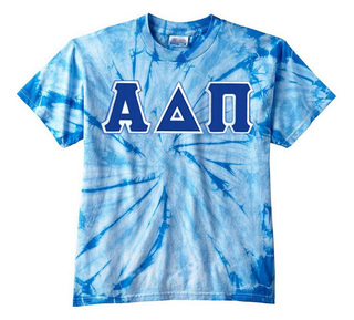 DISCOUNT-Alpha Delta Pi Lettered Tie-Dye t-shirts for only $30!