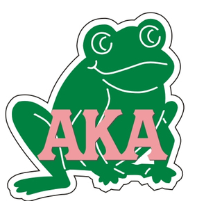 Alpha Kappa Alpha Reflective Sticker, Frog