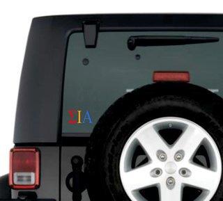 Sigma Iota Alpha Greek Letter Window Sticker Decal