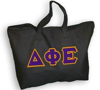 Hand Sewn Twill Sorority Tote Bag