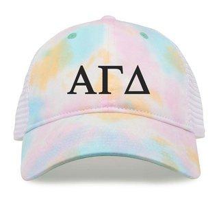 Alpha Gamma Delta Lettered Rainbow Cap