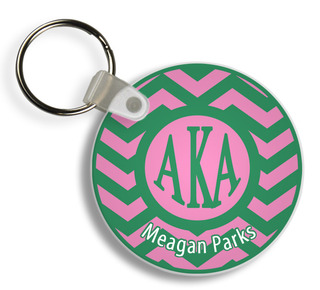 Alpha Kappa Alpha Chevron Keychains