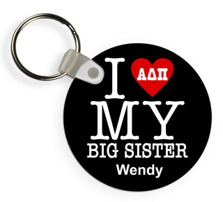I Love My Big/Lil' Sister Keychain