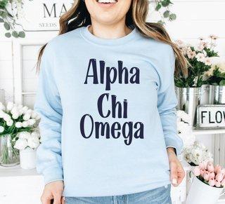 Alpha Chi Omega Comfort Colors Rosie Crew