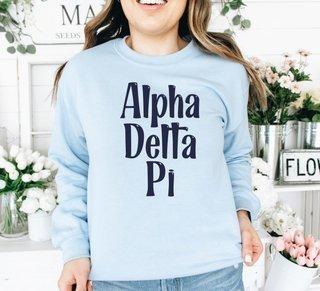Alpha Delta Pi Comfort Colors Rosie Crew
