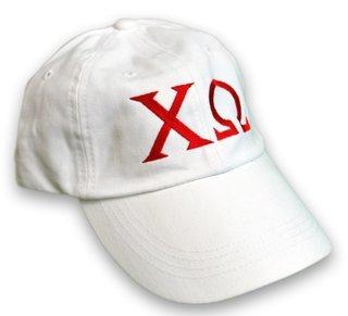 Chi Omega Letter Hat