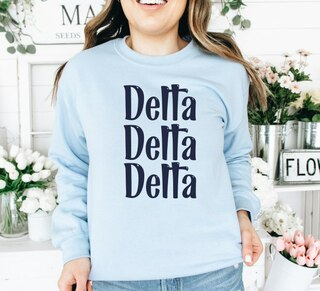 Delta Delta Delta Comfort Colors Rosie Crew