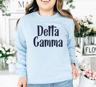 Delta Gamma Comfort Colors Rosie Crew