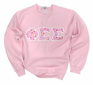 Fraternity & Sorority Hand Sewn Twill Crewneck Sweatshirt