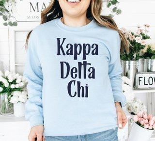 Kappa Delta Chi Comfort Colors Rosie Crew