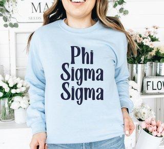 Phi Sigma Sigma Comfort Colors Rosie Crew