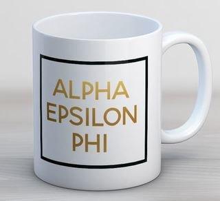 Alpha Epsilon Phi Faux Foil Coffee Mug