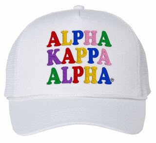 Alpha Kappa Alpha Rainbow Trucker Hat