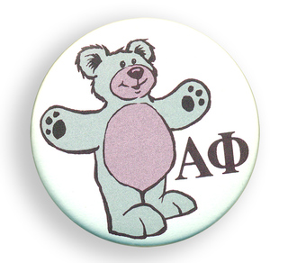Alpha Phi Mascot Button