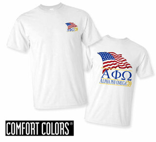 Alpha Phi Omega Patriot  Limited Edition Tee - Comfort Colors