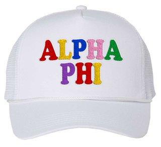 Alpha Phi Rainbow Trucker Hat