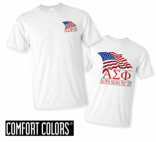 Alpha Sigma Phi Patriot  Limited Edition Tee - Comfort Colors