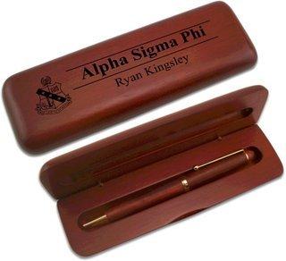 Alpha Sigma Phi Wooden Pen Set