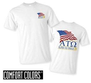 Alpha Tau Omega Patriot  Limited Edition Tee - Comfort Colors