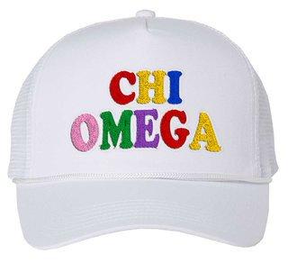 Chi Omega Rainbow Trucker Hat