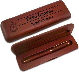 Delta Gamma Wooden Pen Set