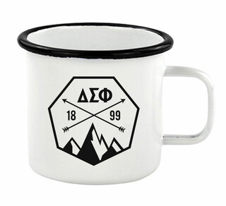 Delta Sigma Phi Metal Camping Mug