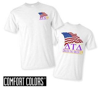 Delta Tau Delta Patriot  Limited Edition Tee - Comfort Colors