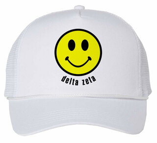 Delta Zeta Smiley Face Trucker Hat