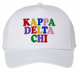 Kappa Delta Chi Rainbow Trucker Hat
