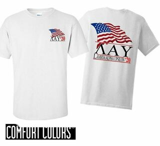 Lambda Alpha Upsilon Patriot  Limited Edition Tee - Comfort Colors