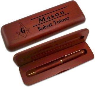 Mason / Freemason Wooden Pen Set