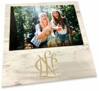 """NCL White 7"""" x 7"""" Faux Wood Picture Frame"""