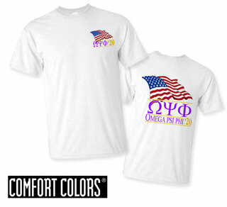 Omega Psi Phi Patriot  Limited Edition Tee - Comfort Colors