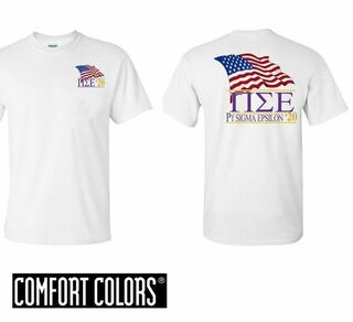 Pi Sigma Epsilon Patriot  Limited Edition Tee - Comfort Colors