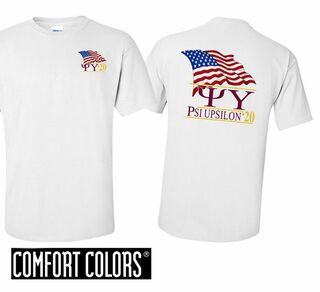 Psi Upsilon Patriot  Limited Edition Tee - Comfort Colors