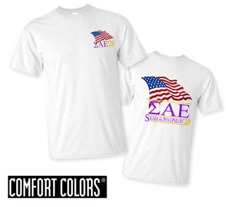 Sigma Alpha Epsilon Patriot  Limited Edition Tee - Comfort Colors