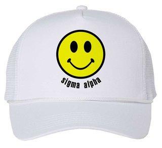 Sigma Alpha Smiley Face Trucker Hat