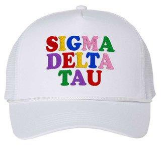 Sigma Delta Tau Rainbow Trucker Hat
