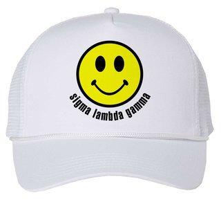 Sigma Lambda Gamma Smiley Face Trucker Hat