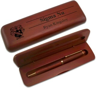 Sigma Nu Wooden Pen Set