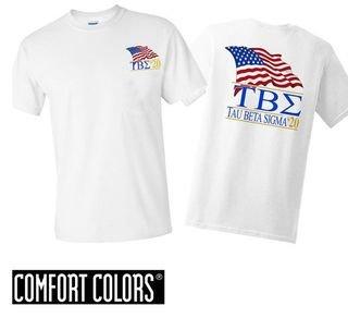 Tau Beta Sigma Patriot  Limited Edition Tee - Comfort Colors