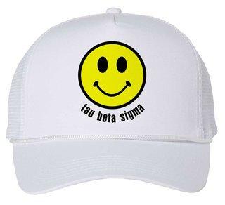 Tau Beta Sigma Smiley Face Trucker Hat